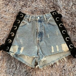 first of a kind jean shorts